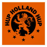 Black Hup Holland - Editable Background colour Poster