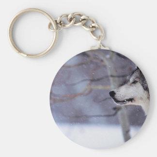 Black Husky Dog Products Keychain