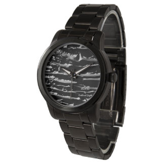 Black Ice Black Band Bracelet Wrist Watch
