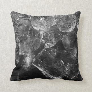 Black Ice Creative Photography Throw Pillow