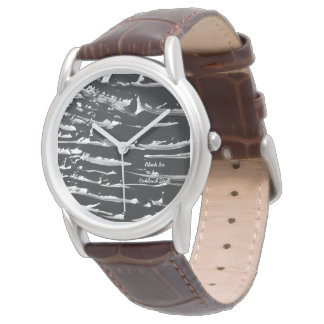 Black Ice Tan Leather Watch
