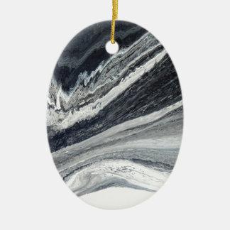 Black Ink Ceramic Ornament