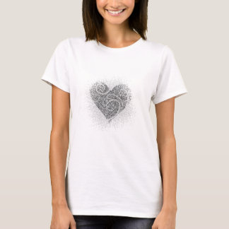 Black ink heart T-Shirt