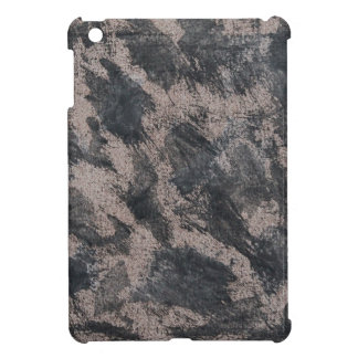 Black Ink on Brown Background Cover For The iPad Mini
