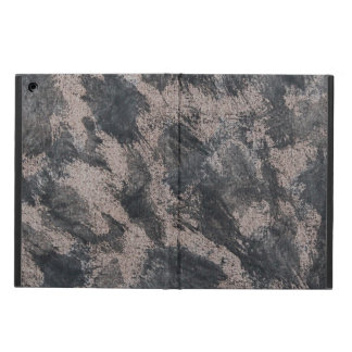 Black Ink on Brown Background iPad Air Covers