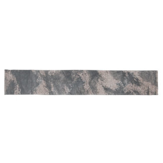 Black Ink on Brown Background Long Table Runner