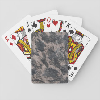 Black Ink on Brown Background Playing Cards