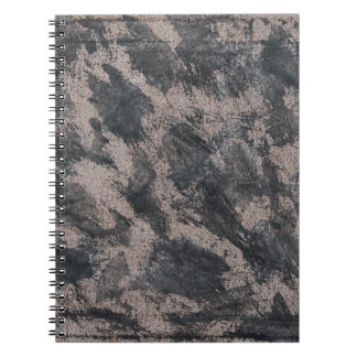 Black Ink on Brown Background Spiral Notebook