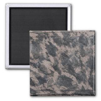 Black Ink on Brown Background Square Magnet