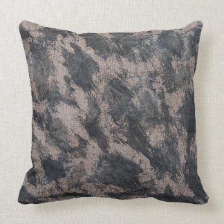 Black Ink on Brown Background Throw Pillow
