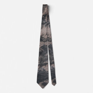Black Ink on Brown Background Tie