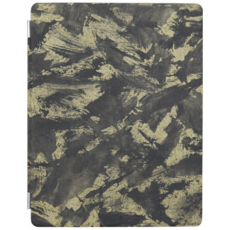 Black Ink on Gold Background iPad Cover