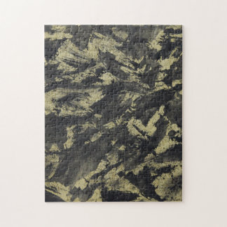 Black Ink on Gold Background Jigsaw Puzzle