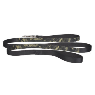 Black Ink on Gold Background Pet Lead