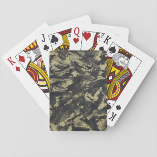 Black Ink on Gold Background Playing Cards