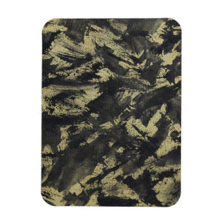 Black Ink on Gold Background Rectangular Photo Magnet