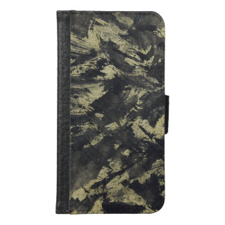 Black Ink on Gold Background Samsung Galaxy S6 Wallet Case