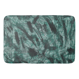 Black Ink on Green Marker Bath Mat