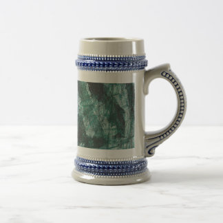 Black Ink on Green Marker Beer Stein