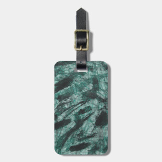 Black Ink on Green Marker Luggage Tag