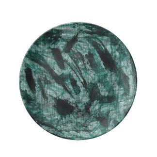 Black Ink on Green Marker Plate
