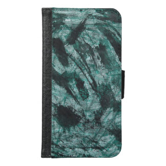 Black Ink on Green Marker Samsung Galaxy S6 Wallet Case