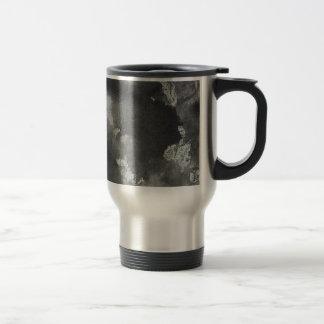 Black Ink on Green Washable Marker Travel Mug