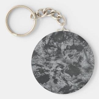 Black Ink on Grey Background Basic Round Button Keychain