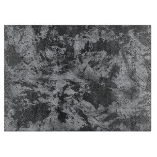 Black Ink on Grey Background Cutting Board