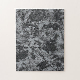 Black Ink on Grey Background Jigsaw Puzzle