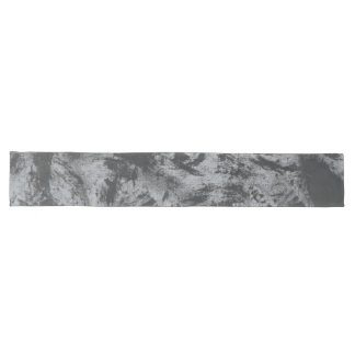 Black Ink on Grey Background Long Table Runner