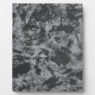 Black Ink on Grey Background Plaque