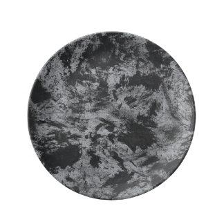 Black Ink on Grey Background Plate