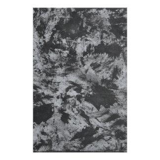 Black Ink on Grey Background Stationery