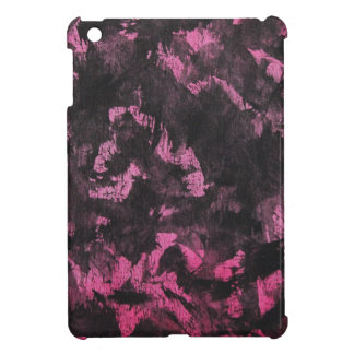 Black Ink on Pink Background Case For The iPad Mini
