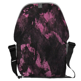 Black Ink on Pink Background Commuter Bags