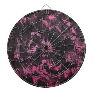 Black Ink on Pink Background Dartboard
