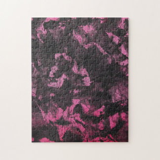 Black Ink on Pink Background Jigsaw Puzzle