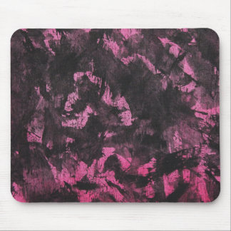 Black Ink on Pink Background Mouse Pad