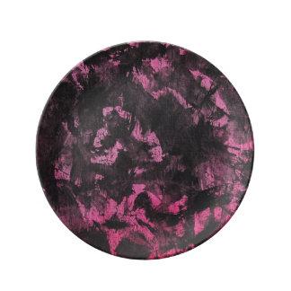 Black Ink on Pink Background Plate