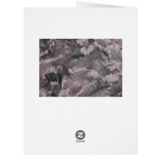 Black Ink on Pink Highlighter Card