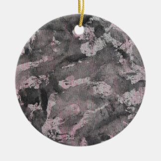 Black Ink on Pink Highlighter Ceramic Ornament