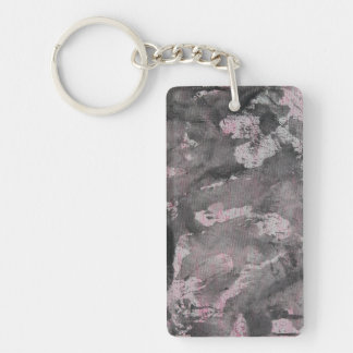 Black Ink on Pink Highlighter Keychain