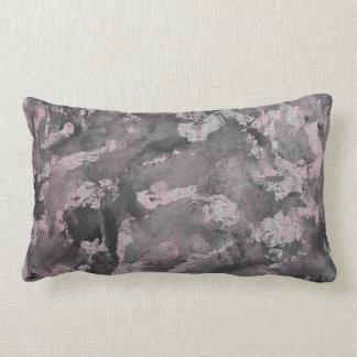 Black Ink on Pink Highlighter Lumbar Pillow