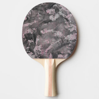 Black Ink on Pink Highlighter Ping Pong Paddle