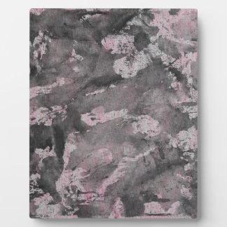 Black Ink on Pink Highlighter Plaque