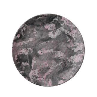 Black Ink on Pink Highlighter Plate