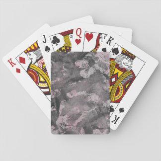Black Ink on Pink Highlighter Poker Deck