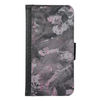 Black Ink on Pink Highlighter Samsung Galaxy S6 Wallet Case