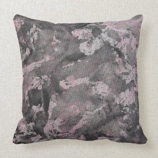 Black Ink on Pink Highlighter Throw Pillow